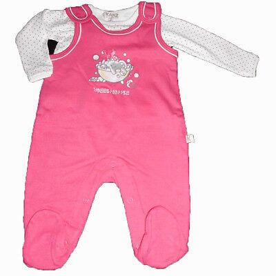 KANZ Girls Baby Stramplerset 2-teilig Kinder Babystrampler Strampler rosa pink