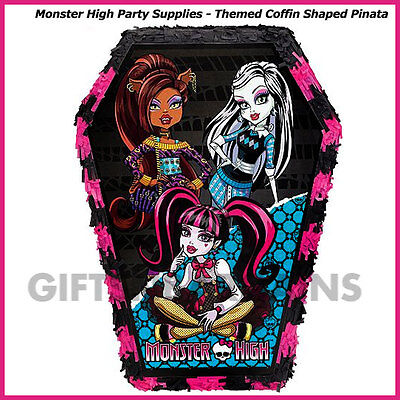 Monster High Pinata Birthday Party Supplies Pinyata Game Halloween Coffin Prop - Monster High Birthday Party Games