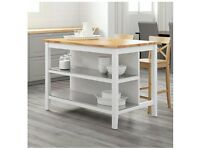 Kitchen Island Stenstorp White/oak 126x79 Cm