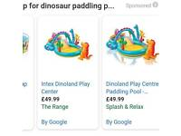 Dinosaur Paddling Pool brand new