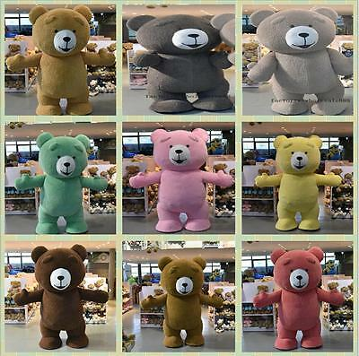Teddy Bear Mascot Costome Plush Clothes Christmas Party Unisex Fancy Dress Adult (Halloween Costome)