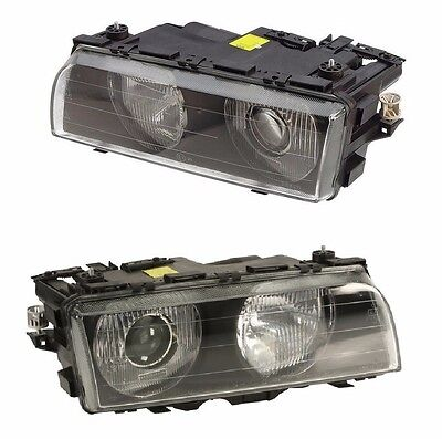For BMW E38 740i 740iL Set Of 2 Headlight Assembly OEM Magneti Marelli