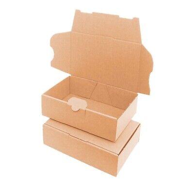 100 Cajas de cartón (16 x 11 x 5 cm) Kraft Automontables Para Envíos Postales