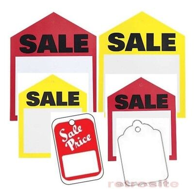 Red Yellow White Sale Price Tags Merchandise Garment Hang Coupon No Strings