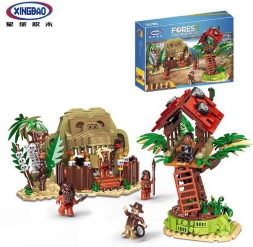 Xingbao Building Blocks Toys Gifts Model Survive Jungle Military Kids Mini DIY