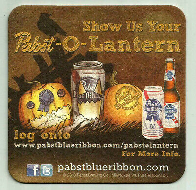 Halloween Themed Beer (16 Pabst -O-Lantern Halloween Theme  Beer Coasters)