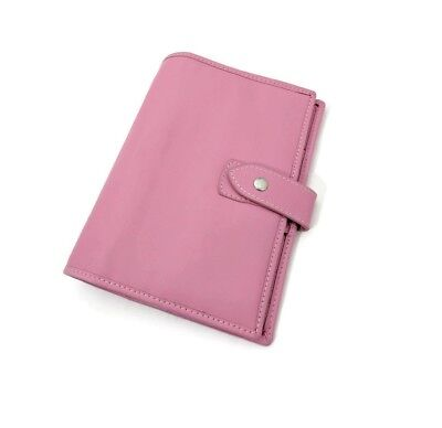 6 Ring Personal Size Genuine Leather Planner Agenda Pink A6 Asian Vintage