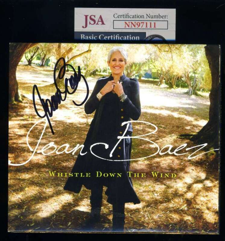 Joan Baez JSA Coa Signed Whistle Down The Wind CD Autograph