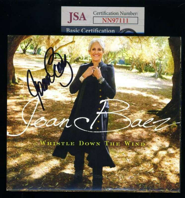 Joan Baez JSA Coa Signed Whistle Down The Wind CD Autograph