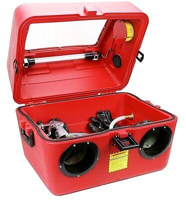 15 Gallon Bench Top Sandblasting Cabinet Box Benchtop Sandblaster Sand Blast