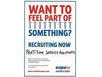 Part Time Service Assistants Wanted in Cambridge