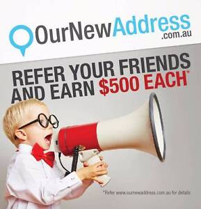 Earn $500 by referring your friends to OurNewAddress! Rockhampton Rockhampton City Preview