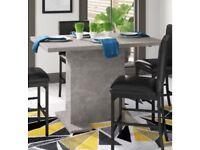 Extending Dining table concrete effect