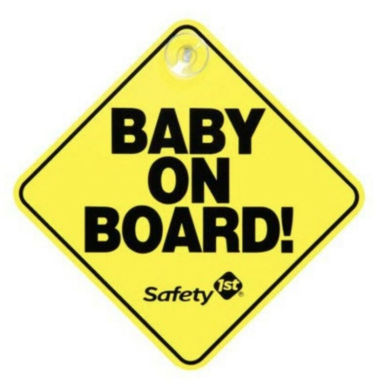Baby On Board Sign Yellow Safety 1st