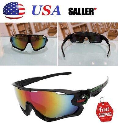 NEW Polarized UV400 Sunglasses Mens Driving Biking Aviator Ski (Snowboarding Sunglass)