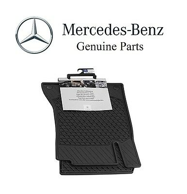 For Mercedes C-Class Coupe 2017 All Weather Season Front Set Black Floor Mats