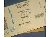 Glass Animals standing ticket - Olympia Theater Dublin
