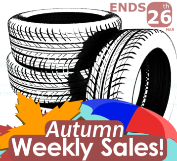Autumn Weekly Tyre Sales!