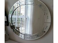 Large Venetian wall hung mirror as new condition
