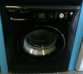 a709 black beko 8kg 1200spin A*A rated washing machine come with warranty can be delivered
