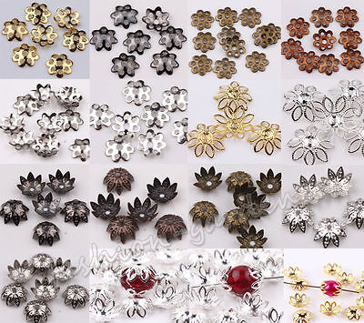 - Wholesale Lots 500pcs Silver Gold Plated Metal Flower Bead Caps 6mm Findings