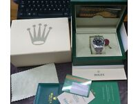 Rolex Submariner Date Automatic Black Stainless Steel Ceramic Watch Box Papers