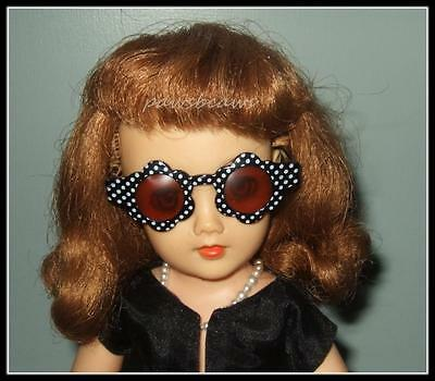 BLACK with WHITE Polka Dots Doll SUNGLASSES for Miss Revlon CISSY Dollikins