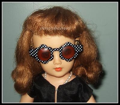 BLACK with WHITE Polka Dots Doll SUNGLASSES for Miss Revlon CISSY Dollikins
