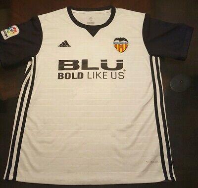 2016/17 Valencia White Jersey #2 Joao Cancelo Medium Adidas Soccer Football.