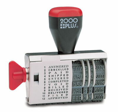 2000 Plus Dial-n-stamp Date Rubber Stamp Phrase Dater Years 2020-2025