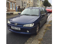 Peugeot 306 1.9 HDI Estate 2000 (X reg), dark blue. Good runner. Reliable. Low mileage for year