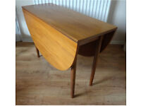 G plan retro style oak/teal drop leaf kitchen / dining table