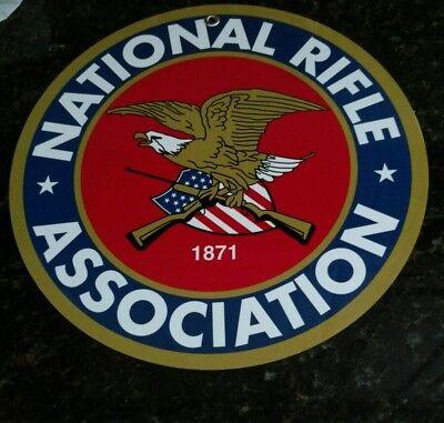"NRA National Rifle Association logo metal ~12"" plaque sign ...#1 of 2 designs"