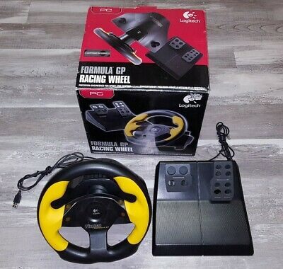 Logitech Wingman Driving Formula GP Racing Wheel & Pedals Tested & Works PC, used for sale  Shipping to South Africa