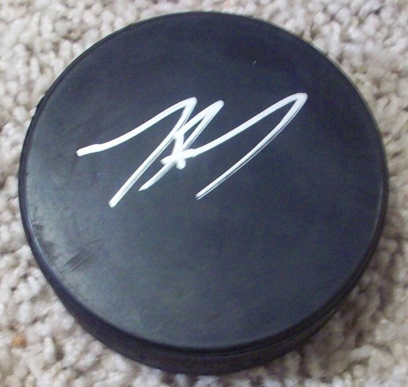 TYLER TOFFOLI LOS ANGELES L.A. KINGS SIGNED AUTOGRAPH PUCK B w/PROOF