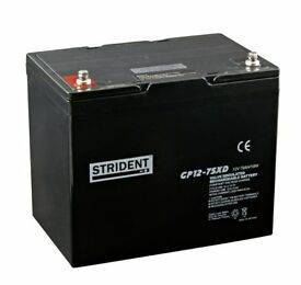 NEW 75Ah Strident mobility scooter battery - 1 year guarantee - Free delivery up to 30 miles