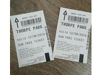 Thorpe Park Tickets - 12th August