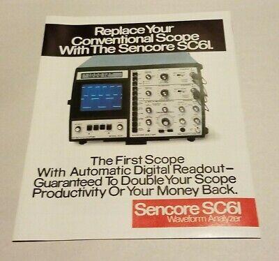 Sencore Sc-61 Oscilloscope Waveform Analyzer Original Brochure Great Condition