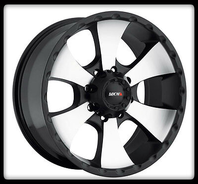 "17"" MKW M19 MACHINED BLACK RIMS & BFGOODRICH LT275-70-17 TA KO BFG TIRES WHEELS"