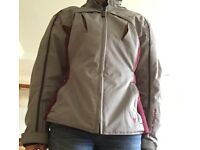 Ladies Motor Bike Jacket. Hardly worn. Grey/burgundy.