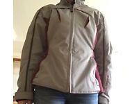 Ladies motor bike jacket. Hardly worn. New price £120.