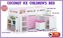 FREE DELIVERY Girls' Single Loft Kid's Bed Desk and Storage - NEW New Farm Brisbane North East Preview