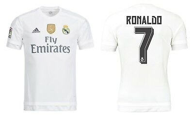Trikot Adidas Real Madrid 2015-2016 Home WC - Ronaldo 7 [128 bis 3XL] CR7 (Real Madrid Wc)
