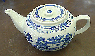 Design 24 Ounce Teapot - Blue Willow Canton Blue Design Porcelain Tea Pot  Vase 24 oz