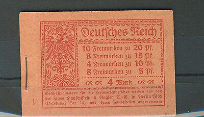 Deutsches Reich Markenheftchen 13 A postfrisch BPP-geprüft (B01362)