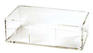 guest towel holder tray for paper guest towels acrylic lucite 6mm thick ebay. Black Bedroom Furniture Sets. Home Design Ideas
