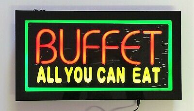 Led Neon Light Buffet Business Sign With Remote Control.