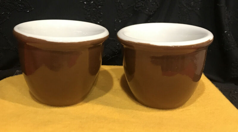 Hall Restaurant Ware Brown Ramekin Cups