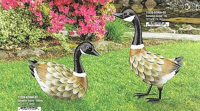 Small Bird Statuary - CANADIAN GOOSE SET OF 2 REGAL ART & GIFT 11528-9