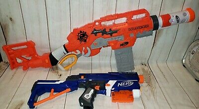 Lot of 2 Nerf Guns Scravenger Zombie Strike Guns & Retaliator